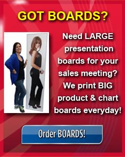 We print large presentation boards